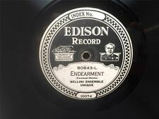 Edison Diamond Disc 80843 Endearment The Ribins Farewell Bellini Ensemble