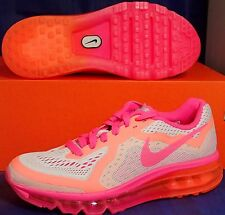Womens Nike Air Max 2014 Pure Platinum Hyper Pink SZ 5.5 / Youth 4Y (631331-003)
