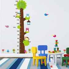 Monkey Tree Owl Children/Baby Height Chart Living room Wall Sticker Decals UK