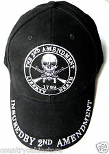 2nd Amendment Right to Bear Arms Skull And Crossed Rifles Embroidered Cap