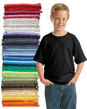 32 BLANK YOUTH KIDS  PLAIN T-SHIRTS LOT BULK U MIX COLORS/SIZE XS -YXL