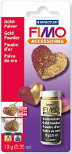 Fimo Accessories 10g Jar Metallic Gold Powder With Re-sealable Lid Creative Fun