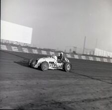 Race Car #2 on Dirt Track - USAC ?? - Vintage B&W 120mm Race Slide