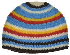 Kufi Hat Crochet Cap Beanie-brown White Red Blue Yellow