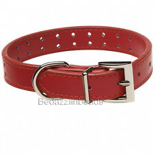 Medium Red Leather Dog or Cat Collar Finding with Holes For Embellishing Charms