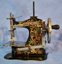 Antique Muller Toy /Salesman Sample Sewing Machine GERMANY Bird of Paradise 1910