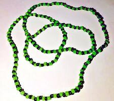 ORISHAS Necklace Yoruba Beads Ifa Santeria  Elekes COLLARES Oggun Green/Black