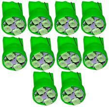 10x ampoule T10 W5W 12V 4LED SMD vert veilleuses éclairage intérieur coffre