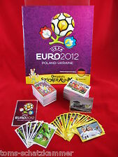Panini euro 2012 jeu complet + album + nouveau + poster = tous les autocollants em 12