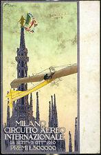 1910 - Milano - Circuito Aereo Internazionale - firma Mazza