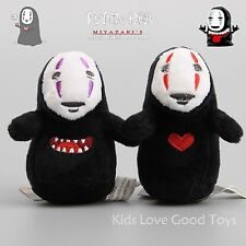 2X Spirited Away Faceless Black No Face Gost Plush Toy Doll 9cm Keychain Cute