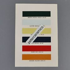 ✇ MG British Leyland original Farbkarte Colors 1960/1970