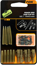 FOX EDGES POWER GRIP LEAD CLIP KIT TRANS KHAKI CARP FISHING RIG TERMINAL TACKLE