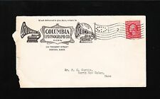 Columbia Phonograph Co Graphophone Records Boston Ovate Flag 1909 Cover 7w