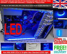 Super Bright LED Light Strip Blue PC Case Modding LED Lights 30 LEDS With Molex