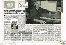 Coupure de presse Clipping 1982 (2 pages) Marcel Landowski