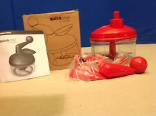 Tupperware Quick Chef  Food Chopper Processor Red