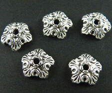 300pcs Tibetan Silver Pretty Flower Bead Caps 10x3mm M256-1489