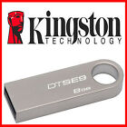 KINGSTON 8GB USB SE9 SILVER METAL KEY MEMORY STICK MINI PEN FLASH DRIVE CARD