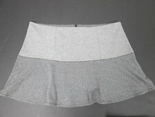GAP WOMENS HEATHER GREY BLACK TWEED FLARE MINI SHORT A-LINE DANCE SKIRT 2XL NWT