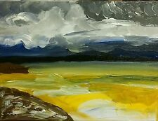 Portobello beach edinburgh seascape acrylique sur toile nigel waters original signe