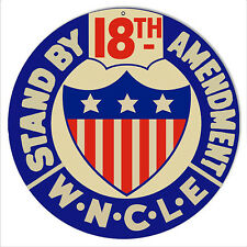 Reproduction 18th Amendment Bar Metal Sign 14 Round