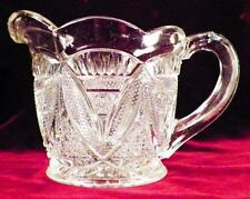 Antique Twin Snowshoes Creamer US Glass #15139 Early American Pattern Sunbeam