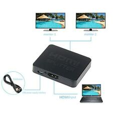 2 Port HDMI Splitter 1 In 2 Out 1x2 HDMI Switch Switcher 1 To 2 HDMI Distributor