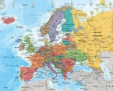 MAP OF EUROPE POSTER (40x50cm) EDUCATIONAL TRAVEL TOOL NEW LICENSED ART