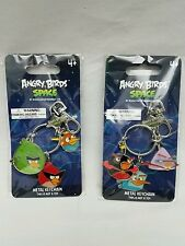 New Angry Birds Space Metal Charm Key Chain Souvenir Set Of Two