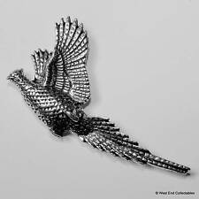 Flushed Pheasant Pewter Pin Brooch - British Hand Crafted -Hunting Shooting Bird