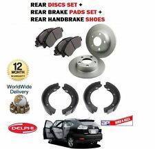 FOR LEXUS RX300 RX400H HYBRID RX350 2003-  REAR BRAKE DISCS SET +  PADS + SHOES