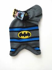 TODDLER BOYS BATMAN KNIT HAT AND MITTENS ONE SIZE