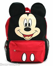 "Disney Mickey Mouse Face/Ears 12"" Small Backpack Book Bag for Kids"