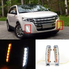 2x LED Daytime Running Light With Yellow Turn Light For 2011-2013 Ford Edge