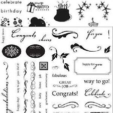 FISKARS Clear Stamps ROUND OF APPLAUSE Huge 8x8 Set!!!