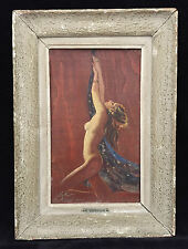 ART DECO NUDE OIL ON PANEL BY MARZIO CHERUBINI ITALIAN APPR 1920-40S, Size31x18c