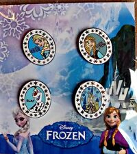 FROZEN Elsa Anna Olaf Castle BOOSTER PACK of 4 Disney Park Pins - NEW