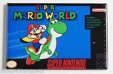 Super Mario World FRIDGE MAGNET (2 x 3 inches) video game box snes yoshi
