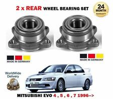FOR MITSUBISHI LANCER EVO 5 6 7 8 9 1996   2x REAR WHEEL BEARING KIT SET