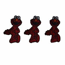 Sesame Street Elmo Embroidered Patch Set of 3