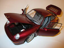 Porsche 911 (993) Turbo Coupe in rot rosso rouge roja red metallic, UT in 1:18!