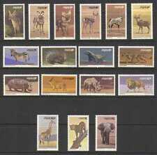 SWA 1980 Animals/Cats/Elephant/Giraffe/Rhino 17v n19974