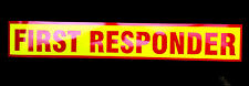 First Responder Red Fluorescen Magnetic Sign