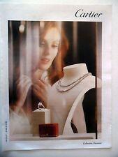 PUBLICITE-ADVERTISING :  CARTIER Collection Diamant  2015 Bijoux,Bagues,Colliers
