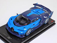 1/18 MR Bugatti Vision Gran Turismo light blue - Carbon on Carbon Fiber Base