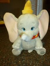 "Disney Store Dumbo Medium Plush 14"" Inch SOFT, Authentic Patch New with Tags"