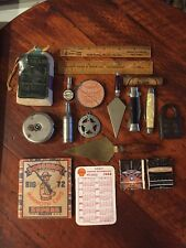 Vintage & Antique Junk Drawer Lot Advertising Toys Etc