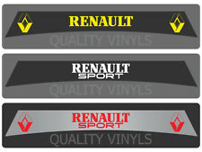 RENAULT SPORT CAR WINDSCREEN SUNSTRIP TWINGO SCENIC CLIO MEGANE DECAL STICKERS