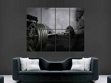 WEIGHTLIFTING GYM FITNESS WEIGHTS ART WALL LARGE IMAGE GIANT POSTER